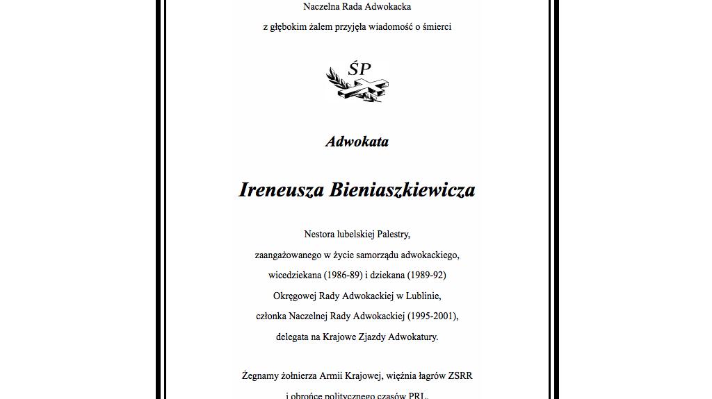 """Zmarł Ireneusz Bieniaszkiewicz """"Bey"""""""
