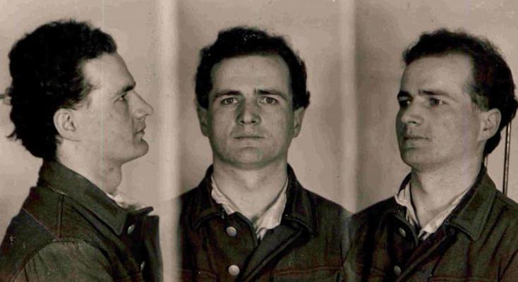 Fotografia sygnalityczna Edmunda Tudruja wykonana prawdopodobnie w 1948 roku | Fot. IPN