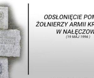 Odsłonięcie pomnika żołnierzy AK-DSZ w Nałęczowie (19 maja 1996 r.)